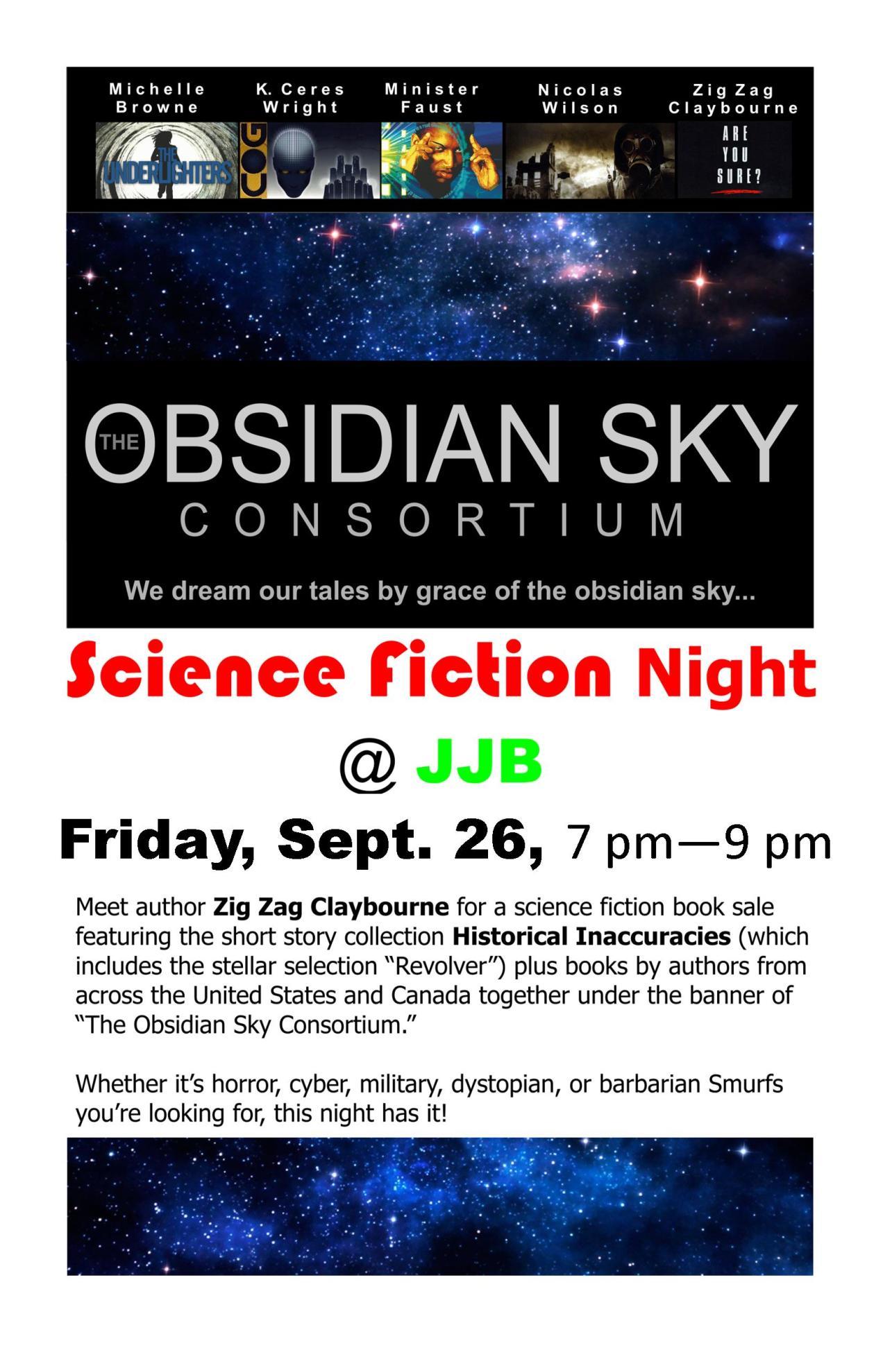Obsidian sky at JJB